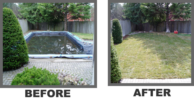 Before and After Poll Removal Job